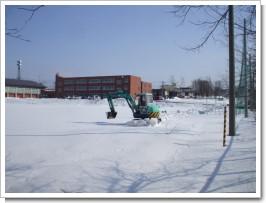 東光中学校雪割