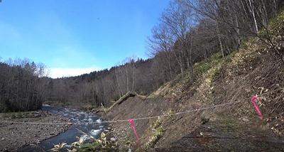 1 シートカチ林道6キロ先、最初の林道崩壊地点