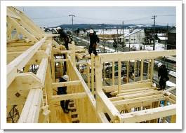菊地邸-建て方状況